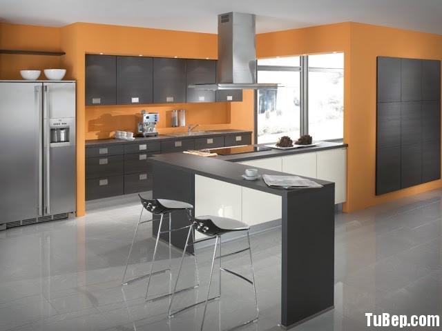 Tủ bếp Acrylic có đảo TBT0305