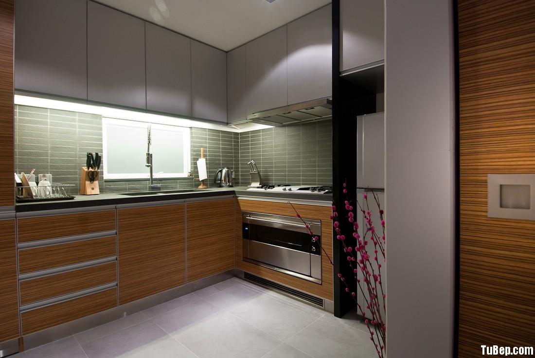 laminate 21 Tủ bếp gỗ Laminate chữ L TBT0413
