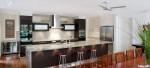 Tủ bếp gỗ Acrylic kết hợp Laminate có đảo TBT0318