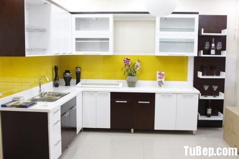 laminate trắng nâu Tủ bếp Laminate TBT0378