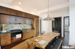 Tủ bếp gỗ tự nhiên gỗ Dổi – TBB327