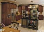Tủ bếp gỗ Dỗi có đảo TBT0337