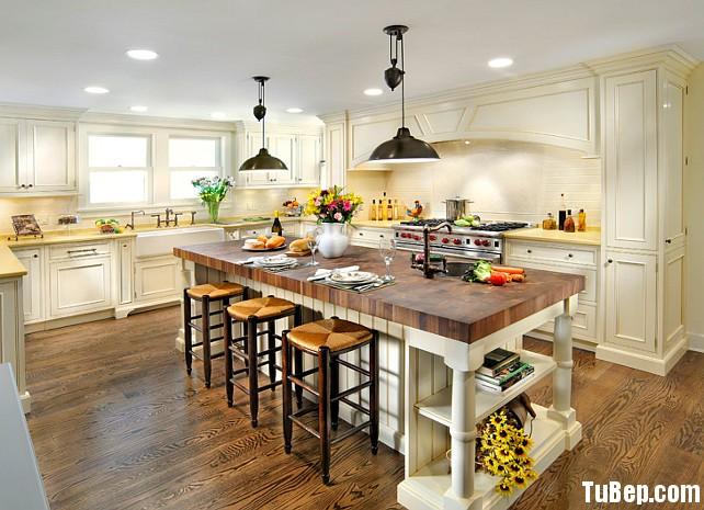 tự nhiên sơn men 2 Tủ bếp gỗ Xoan đào sơn men chữ L TBT0416
