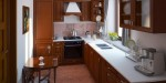 Tủ bếp gỗ Laminate phối Arylic hình chữ I có đảo TBT0718