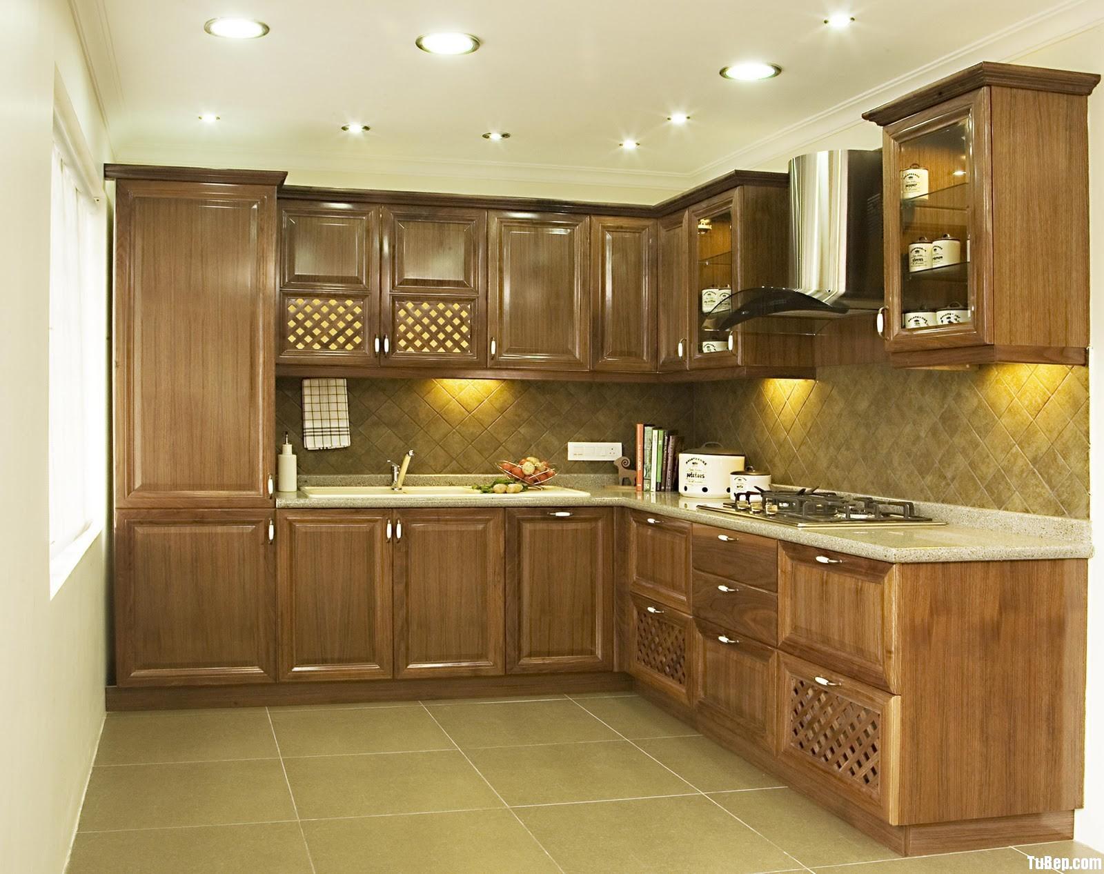 2208 7 Tủ bếp gỗ Sồi Mỹ sơn PU bóng – TBB629
