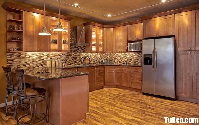 tu bep go tu nhien 26 Tủ bếp gỗ tự nhiên chữ U TBT0631