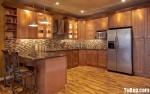 Tủ bếp gỗ tự nhiên chữ U TBT0631