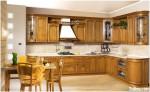 Tủ bếp gỗ Sồi Nga sơn bóng – TBB576