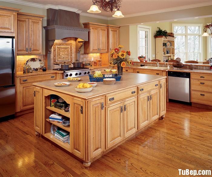 tần bì Tủ bếp gỗ Tần Bì có đảo chữ L TBT0461