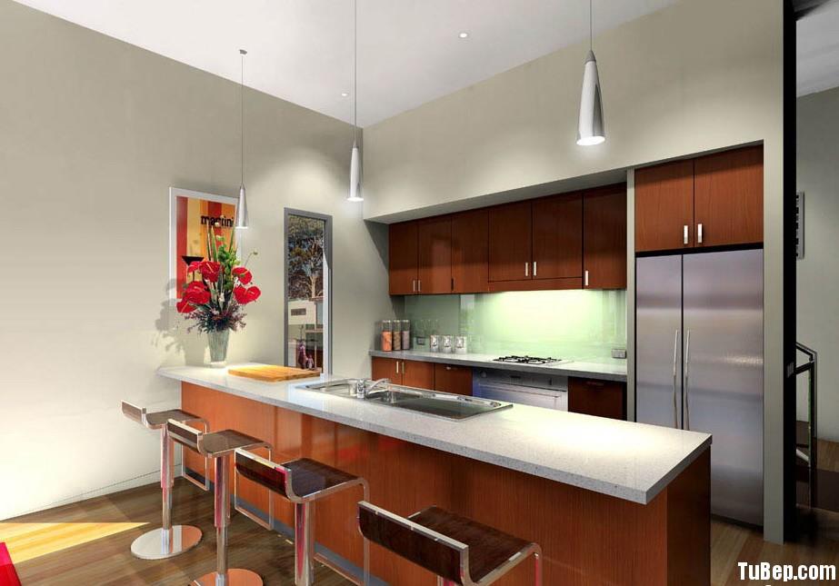 2108 6 Tủ bếp Laminate màu vân gỗ – TBB0574