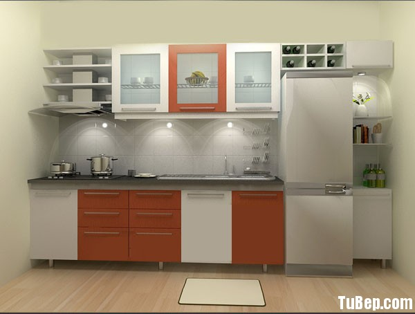 2907 6 Tủ bếp gỗ MDF Acrylic – TBB523