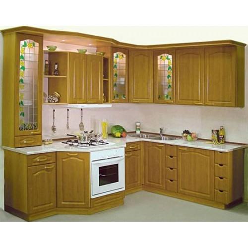 0608 5 Tủ bếp gỗ tự nhiên Sồi Nga – TBB492