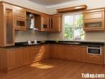 Tủ bếp gỗ Sồi Nga – TBB514