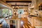 Tủ bếp gỗ Sồi  tự nhiên sơn men – TBB444