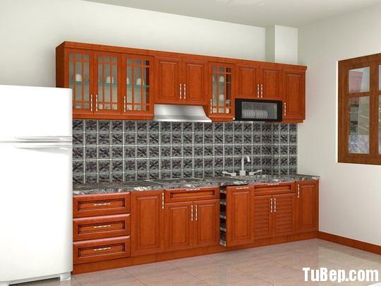 a3 Tủ bếp gỗ Căm xe tự nhiên chữ I TBT0636