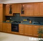 Tủ bếp gỗ xoan đào – TBB480