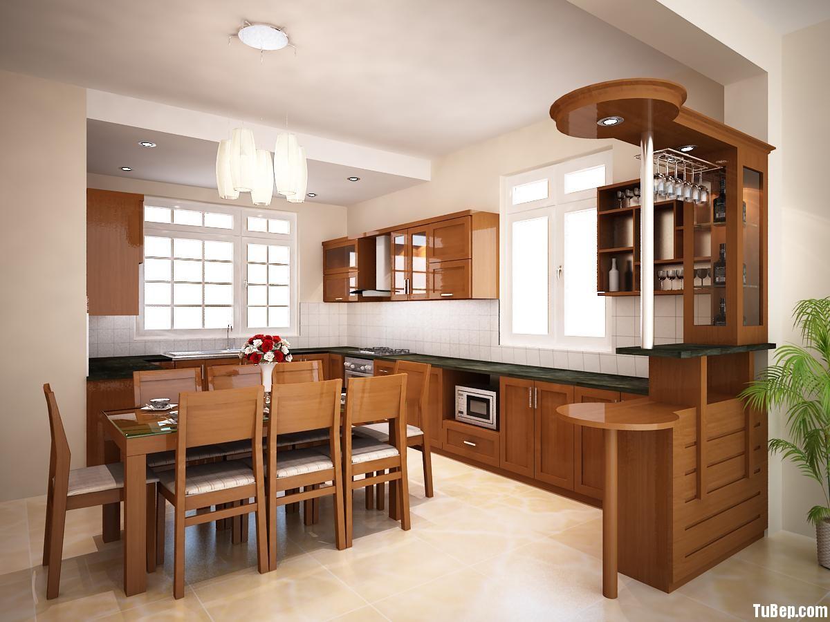 2308 2 Tủ bếp gỗ Xoan Đào – TBB593