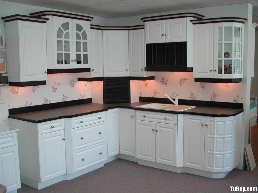 0408 2 Tủ bếp gỗ Sồi  tự nhiên sơn men   TBB478