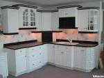 Tủ bếp gỗ Sồi  tự nhiên sơn men – TBB478