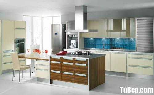 laminate 1 Tủ bếp gỗ Laminate chữ L có đảo TBT0459