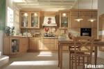 Tủ bếp gỗ tự nhiên chữ L TBT0577