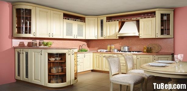 2108 5 Tủ bếp gỗ Sồi sơn men trắng   TBB570