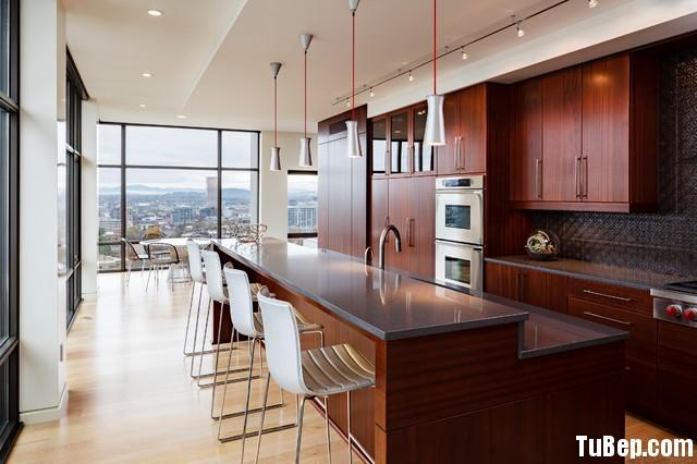 modern kitchen cabinets 13 Tủ bếp gỗ tự nhiên chữ I có đảo dài TBT0567