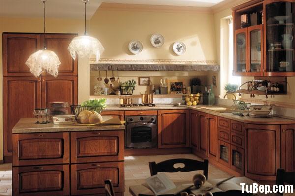 tu bep go tu nhien 7 Tủ bếp gỗ tự nhiên chữ L có đảo TBT0560