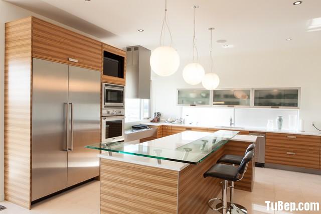 modern kitchen cabinets 9 Tủ bếp Laminate màu vân gỗ chữ L có đảo TBT0549