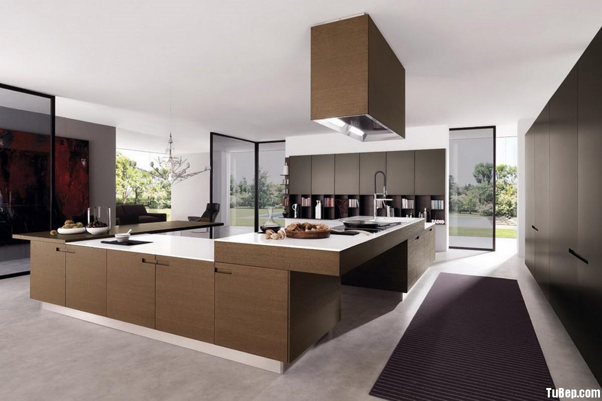 laminate nâu Tủ bếp Laminate màu vân gỗ chữ L TBT0505