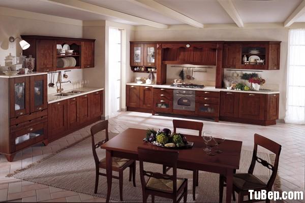 tu bep go tu nhien 8 Tủ bếp gỗ tự nhiên chữ I TBT0571