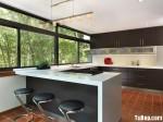 Tủ bếp gỗ MDF Laminate + Bàn đảo – TBB486