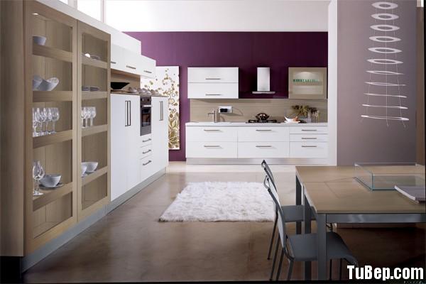 modern kitchen cabinets 2 Tủ bếp gỗ Laminate chữ I màu trắng TBT0510