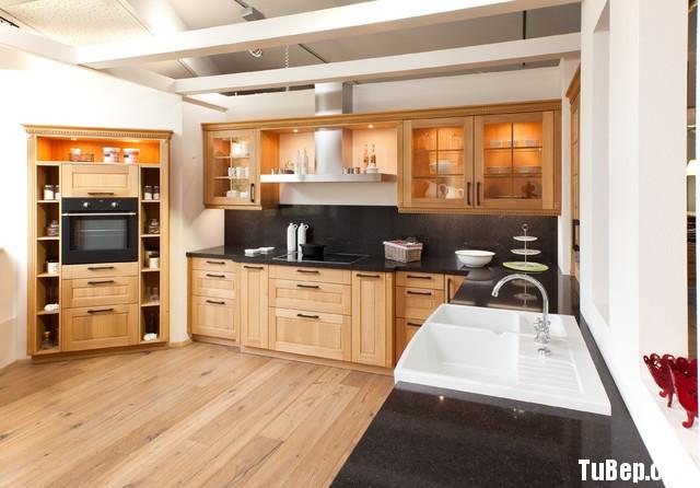 tu bep go tu nhien 14 Tủ bếp gỗ Sồi tự nhiên chữ L TBT0601