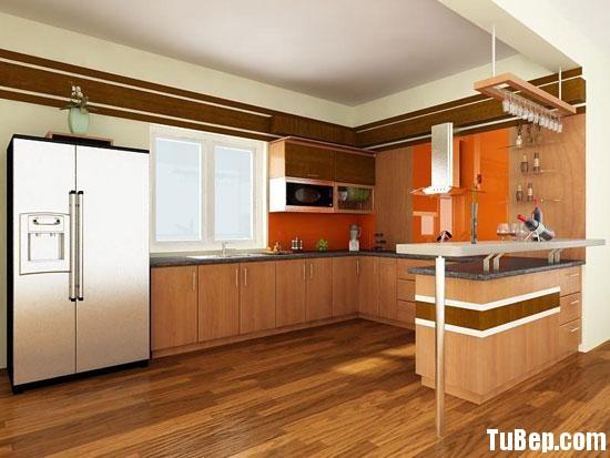 a2 Tủ bếp gỗ Laminate chữ L màu vân gỗ nhạt TBT0635