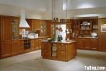 Tủ bếp gỗ Xoan đào tự nhiên chữ L TBT0638