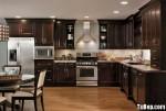 Tủ bếp gỗ tự nhiên sơn men chữ L TBT0550