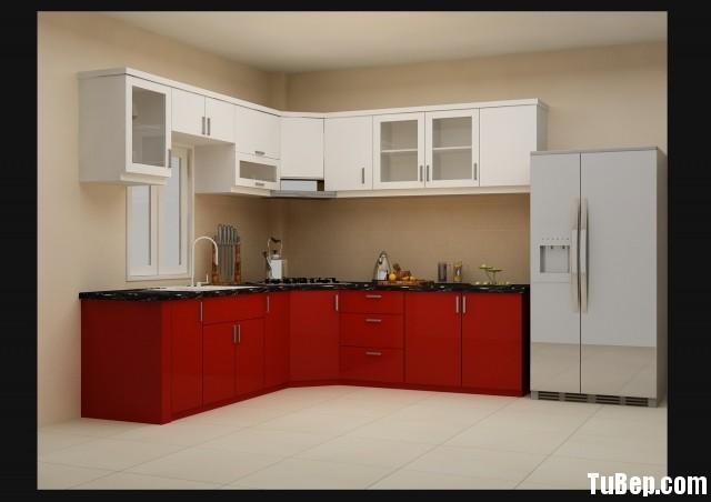 2108 7 Tủ bếp gỗ công nghiệp Acrylic   TBB571