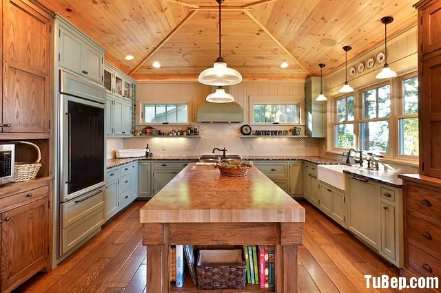 2806 Xoan đào Tủ bếp gỗ xoan đào sơn men – TBB556