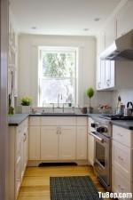 Tủ bếp gỗ Sồi tự nhiên sơn men – TBB550