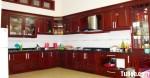 Tủ bếp gỗ Căm – Xe TBB437
