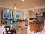 Tủ bếp MDF Laminate kết hợp bàn Bar và bàn đảo- TBB590