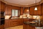 Tủ bếp gỗ xoan đào – TBB507