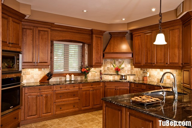 1606 xoan đào Tủ bếp gỗ xoan đào – TBB507