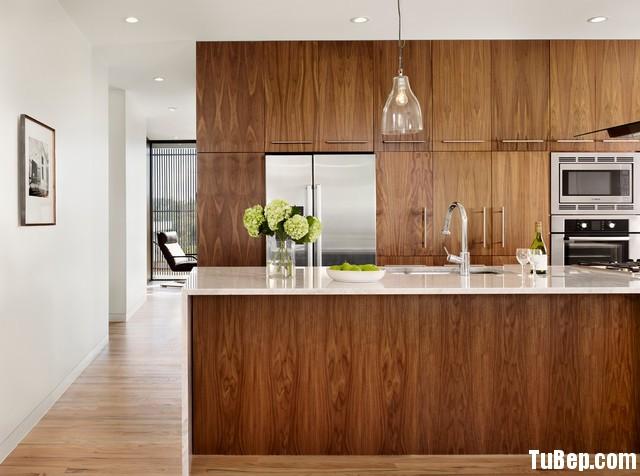 modern kitchen cabinets 29 Tủ bếp Laminate màu vân gỗ chữ I có đảo TBT0526