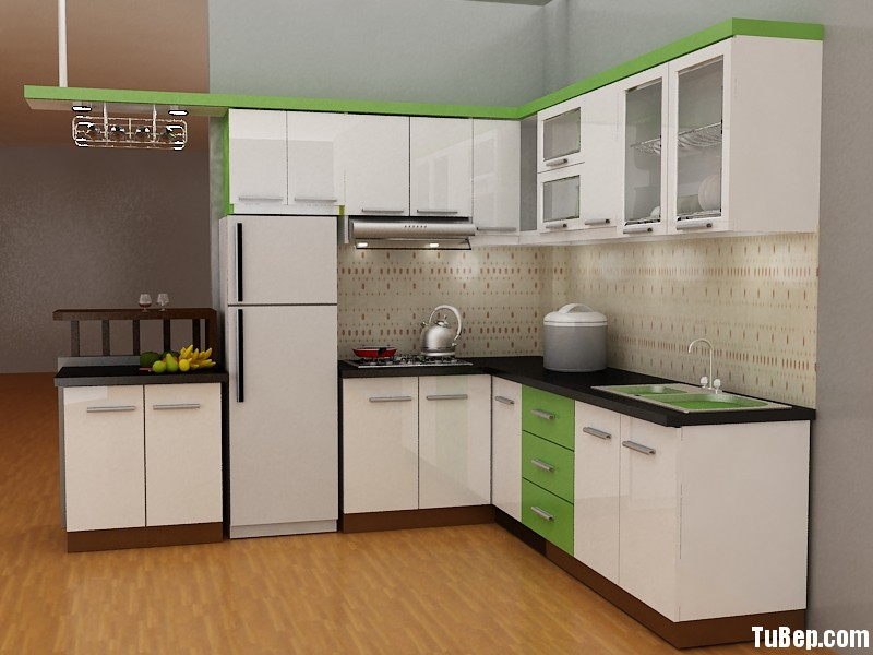 0608 3 Tủ bếp gỗ MDF Acrylic – TBB491