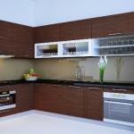 Tủ bếp MDF Laminate   TBB438