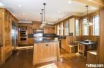 Tủ bếp gỗ Sồi Nga – TBB525