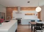 Tủ bếp Acrylic màu trắng chữ I có đảo TBT0539