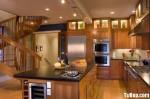 Tủ bếp gỗ xoan đào – TBB597